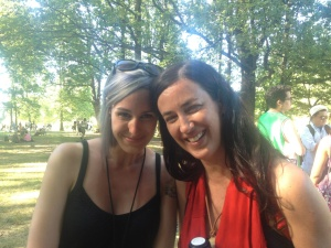 Kinnie Starr and I at The Vancouver Folk Festival