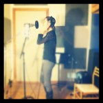 Gillian recording vocals