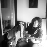 Lonny tracking electric guitar