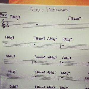 "Chart for our song ""Heart Placement"""