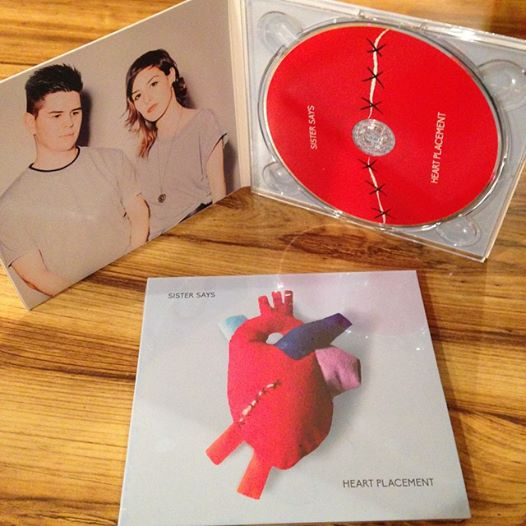 """Our second album """"Heart Placement."""" Artwork by Carmen Leah & duo photo by  Leigh Righton"""